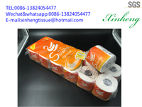 printed customer's logo paper roll tissue toilet tissue paper