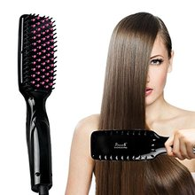 Heat Ceramic Electric Hair straightening Brush As Seen On TV
