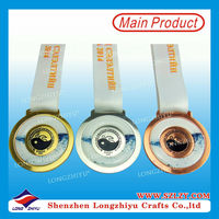 Custom design racing medals Promotional gifts game coin ,big medallion and medal with neck bands