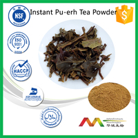 ISO&GMP manufacture supply Instant Pu-erh Tea Powder10%-50% Polyphenols