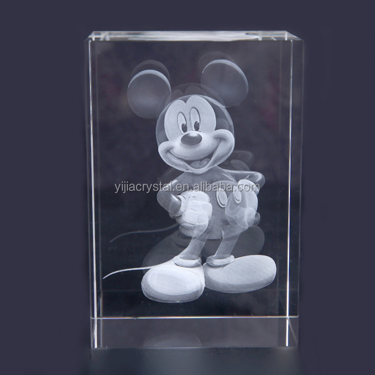 2015 High quality small animal Laser Etched 3D Crystals