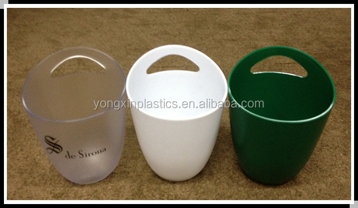 3L thickness plastic Ice Bucket with handle