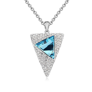 9046 white gold plated cz jewelry silver 925 men's casual necklace