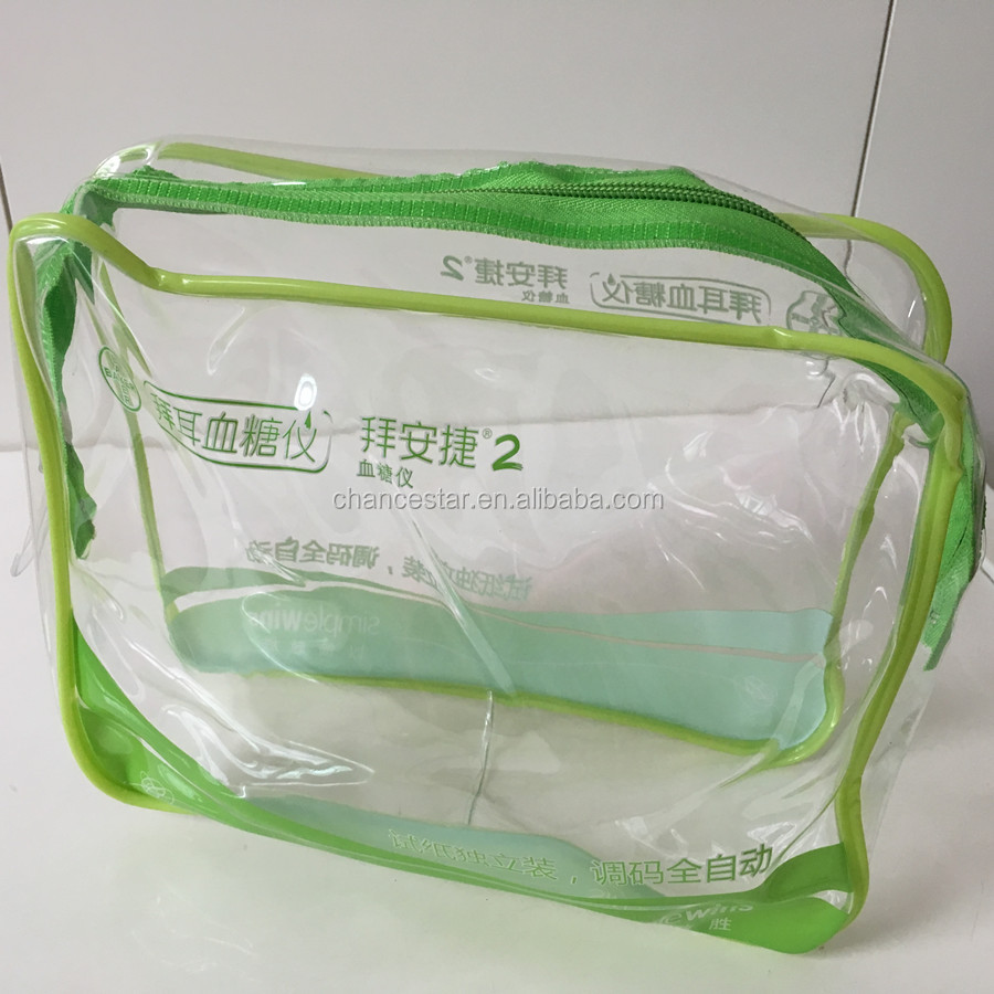 custom clear plastic blanket packaging zipper bags