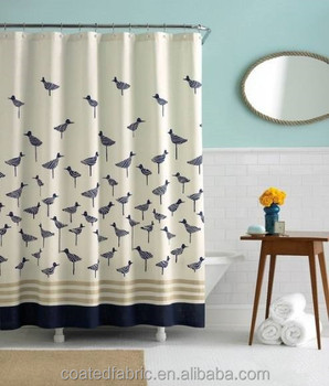 Thin polyester waterproof shower curtain fabric