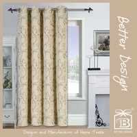 1PC JACQUARD BLACKOUT MODERN CURTAINS FOR LIVING ROOM WITH CURTAIN DESIGN
