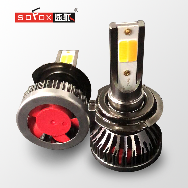 High power 2pcs cob chips 9-24v 6000k 3000lm h7 led headlight car kit