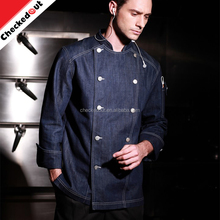New Fashion Long Sleeves Restaurant Hotel Kitchen Coats Jackets Uniform Double Button Unisex chef wear