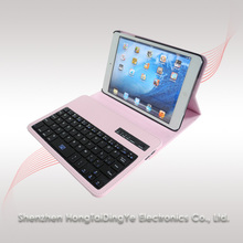 360 Rotating Stand Leather Case with Removable Bluetooth Keyboard for IPad MINI