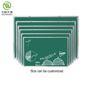 Classroom magnetic green board chalk writing board with pencil groove