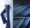 100% Cotton Breathable Slub Stretch Denim Fabric For Jeans