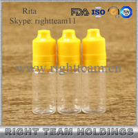 10ml glass roller ball bottle with plastic caps 10ml pet dropper bottle 10ml pet eliquid dropper bottles with childproof cap