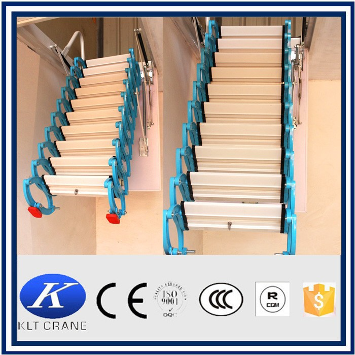 Folding attic stairs, retractable stairs