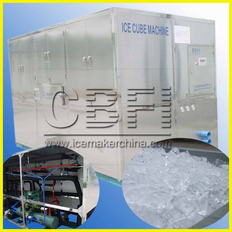 Large cube ice machine with best quality evaporator uesd in Egypt