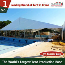 30m width permanent outdoor swimming pool marquee tent with plain white translucent PVC covers