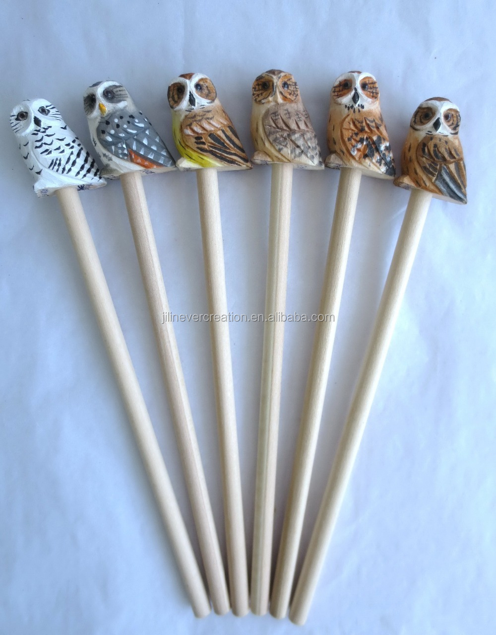 Promotional wood carved pencil cute design wooden