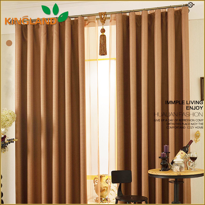 New Curtain Designs High Quality Sun Stop Linen Blackout Office Curtain With Valance Curtains