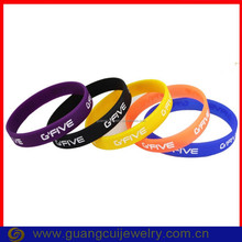 Fashion slogan single color silicone bracelet