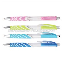 Promotional adverting colorful plastic ball point pen