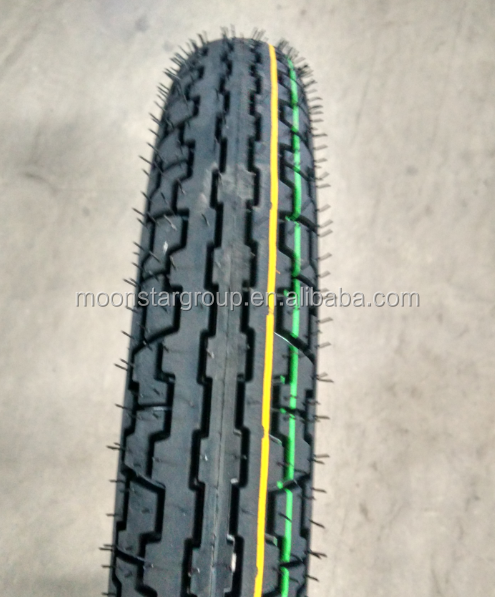 Front wheel 2.75-18 TT&TL motorcycle tire and tube