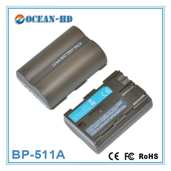 Rechargeable BP-511A for Canon 7.4v li-polymer battery