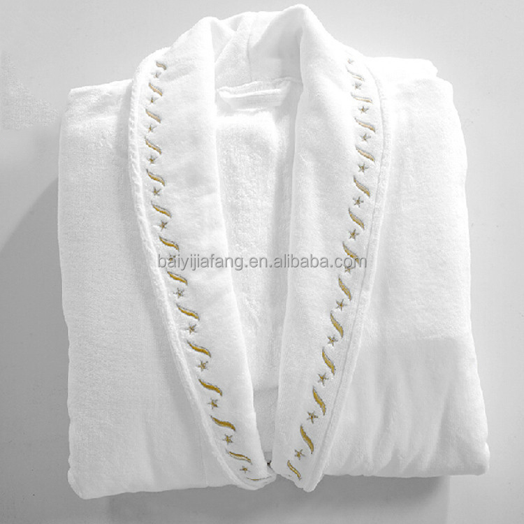 Wholesale 100% Cotton Embroidered Sexy Bathrobe/Bath Robes for Women