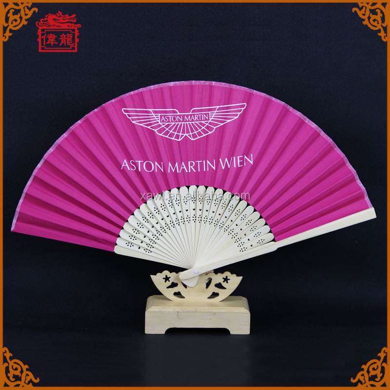 free sample Custom Logo Paper Printed Bamboo cheap paper Folding Hand Held Fan DZ-02