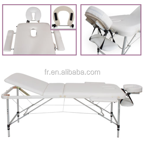 Lightweight folding massage table for beauty salon