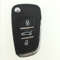Peugeot&Citroen 01f003a remote car key, can be folding, 3 buttons