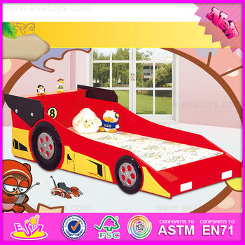 2016 Fashionable kids wooden king size car bed W08A033