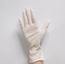 Cream Yellow latex disposable gloves for Beauty Salon,latex glove malaysia top gloves