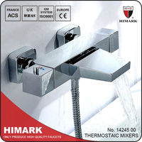 Anti-scalding thermostatic bath filler and shower mixer with CE certifications