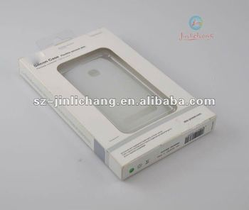 cardboard box with clamshell window Packaging for iphone/Samsung/Nokia case
