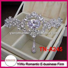 2017 new hot sale black rhinestone tiara
