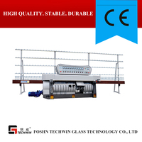 9 spindels horizontal/vertical glass edging grinding machine