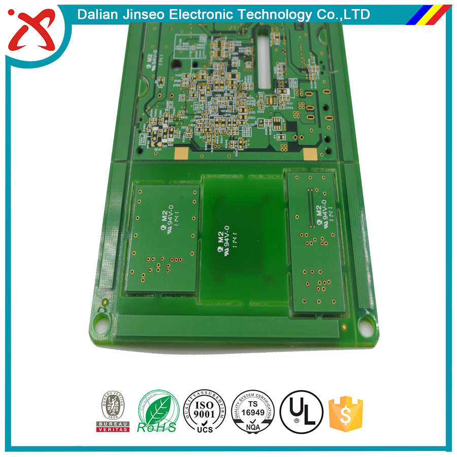 High-power power amplifier double sided pcb circuit board
