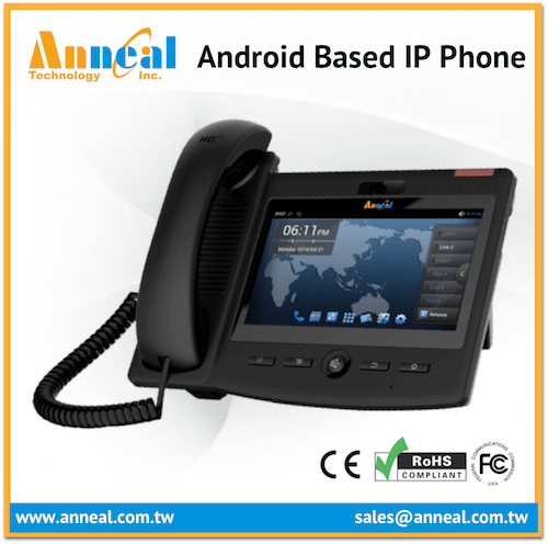 Professional VoIP SIP IP Video Android Desktop Phone with HD Voice