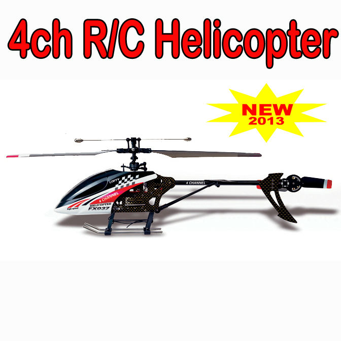 4ch single propeller rc helicoper toys remoto control toy helicopter FX037
