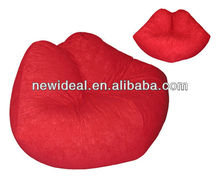 Fashion lazy lip shape bean bag chair (NW910)