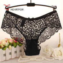 Hot Sexy Fashion Transparent Full Lace Girl Panties Sexy Women Underwear