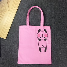 Good Manufacturer Pink Cotton Tote Bag Printed Eco Recyclable Canvas Shopping Bag