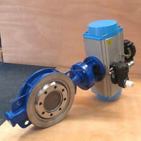 DN200 Wafer type butterfly valve with pneumatic actuator