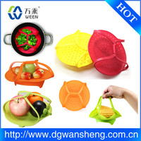 silicone steamer basket/Microwave Safe Collapsible Silicone Steamer