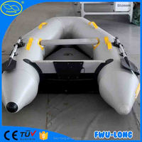 Hot sale crazy fun double layered inflatable banana boat for sale Made in China