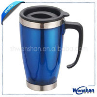 Wenshan double wall personalize steel coffe tumbler with insert paper