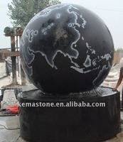 floating sphere water rolling ball fountain