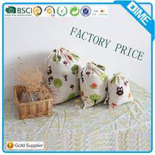 Wholesale Cotton Fabric Pouch Bag Drawstring Bag