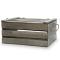 Wood factory handmade FSC China fir antique gray wooden crate