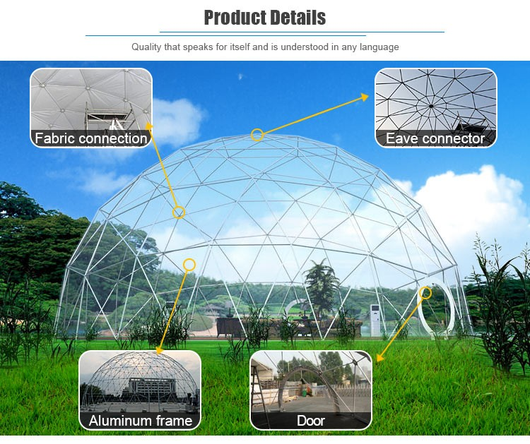 8 x 8 Meter Big Top Hexa Canvas Geodesic Dome Ttents With Eco Luxury Air Conditioning For Party Events On Sale