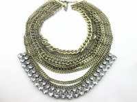 wholesale fancy crystal costume jewelry necklace supplies